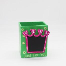 Pen holder (Crown) GREEN