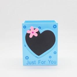Pen holder (Heart Shape) BLUE