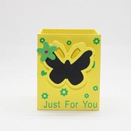 Pen Holder (Butterfly) YELLOW