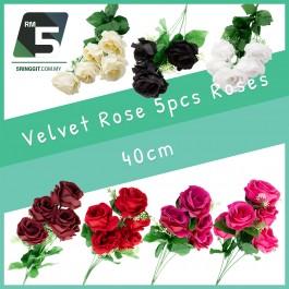 Velvet Rose 5pcs roses