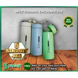 NICE Thermal Vacuum Flusk 400ml Flask Botol Air Thermo Flask Water Bottle