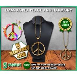 Emas Korea Peace And Harmony  ❤Korea Gold Necklace❤