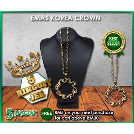 Emas Korea Crown ❤Korea Gold Necklace❤