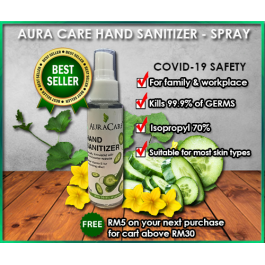 50ml Hand Sanitizer Gel By Auracare | Personal Care Hand Sanitize | Auracare Hand Sanitizer | Health Care Small Kecil