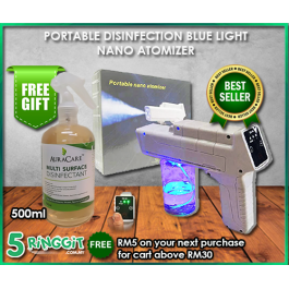 NANO PORTABLE DISINFECTION MIST SPRAYER (WITH FREE GIFT X 1 MULTI SURFACE DISINFECTION 500ML)