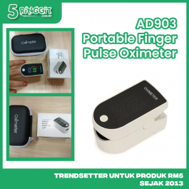 Oximeter Health Finger Monitor AD903 Portable Pulse Rate Oximeter Blood Oxygen Saturation Level Heart Rate Fingertip